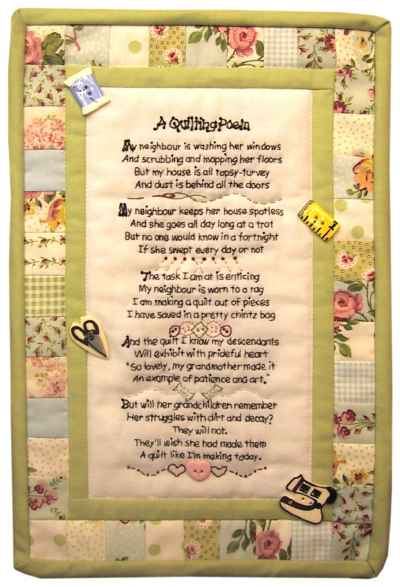 Quilting Poem & So You're A Quilter Too!! A Clever Quilt Poem ... : quilting poem - Adamdwight.com