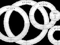 Ruler Gold Circle Set