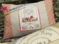 Summer Rose Cottage pillow
